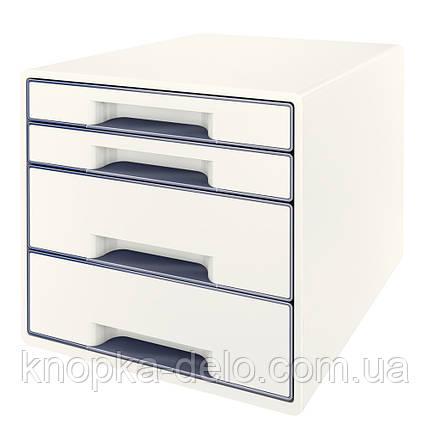 Настольный короб с 4 ящиками  WOW CUBE, белый, арт.5213-20-01, фото 2