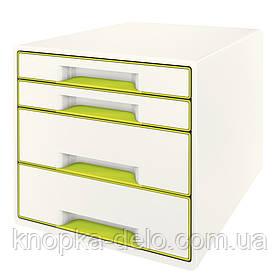 Настольный короб с 4 ящиками  WOW CUBE, зеленый, арт.5213-20-64