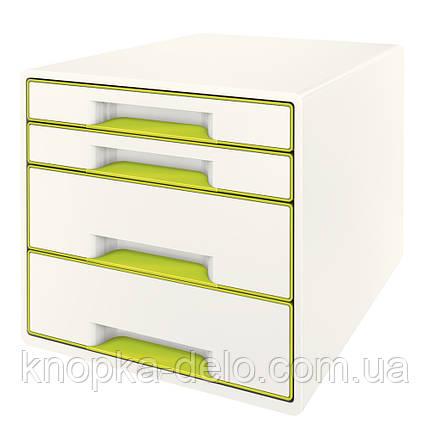 Настольный короб с 4 ящиками  WOW CUBE, зеленый, арт.5213-20-64, фото 2