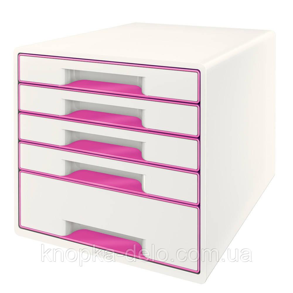 Настольный короб с 4 ящиками  WOW CUBE, розовый, арт.5213-20-23