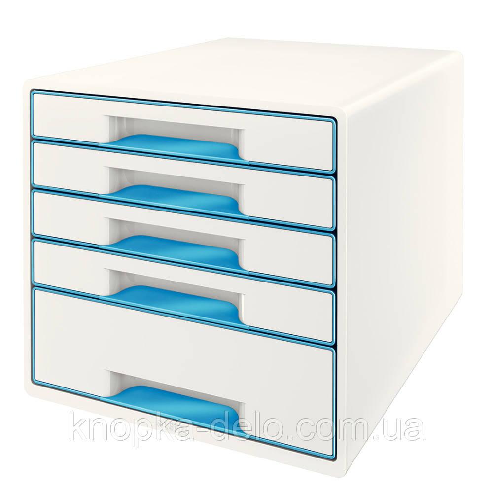 Настольный короб с 4 ящиками  WOW CUBE, синий, арт.5213-20-36