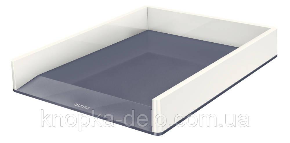 Лоток горизонтальный Leitz WOW Duo Colour, білий, арт.5361-10-01