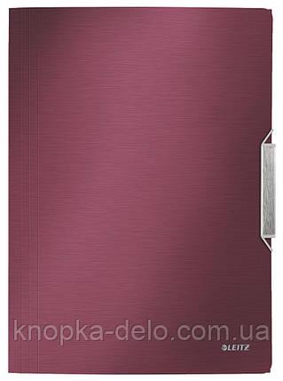 """Папка-бокс на резинке Leitz Style, PP на 150 лист., цвет """"гранатовый красный"""", арт. 39770028, фото 2"""