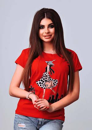 Женская стильная турецкая футболка Ф15 в расцветках