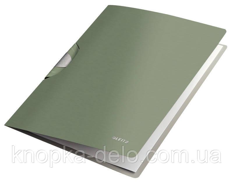 "Папка с клипом Leitz Style ColorClip, A4 PP, цвет ""зеленый"" , арт.41650053"