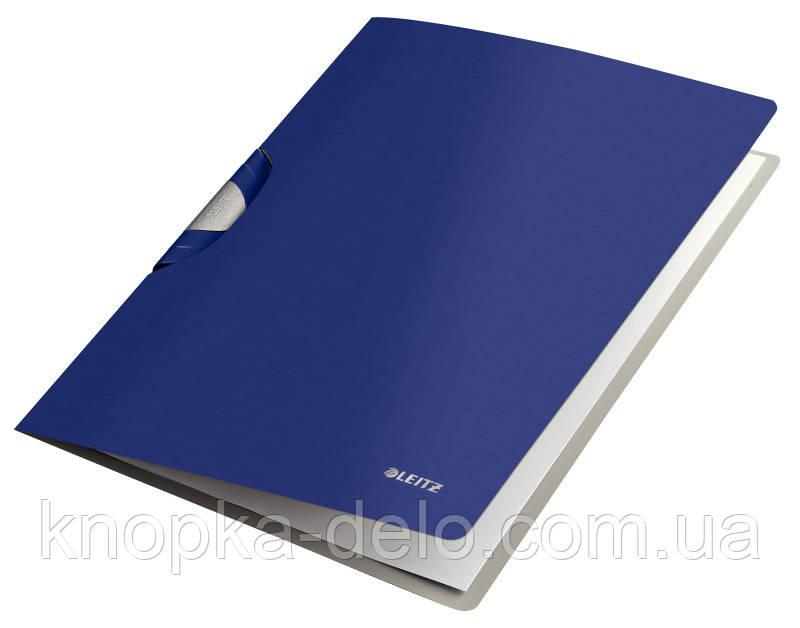 """Папка с клипом Leitz Style ColorClip, A4 PP, цвет """"титановый синий"""", арт.41650069"""