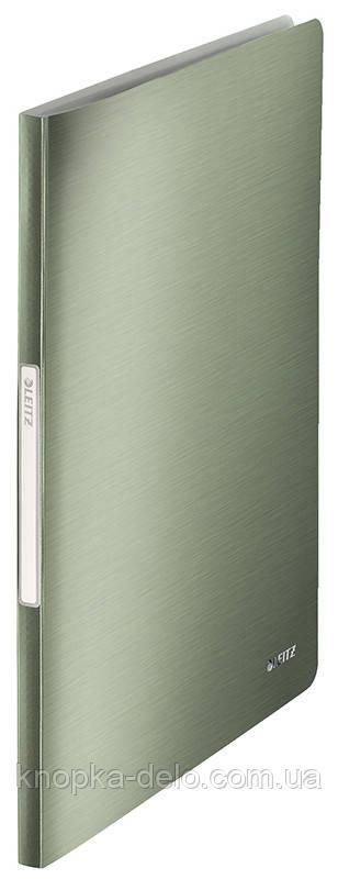 """Папка с файлами Leitz Style  40 файлов, цвет """"зеленый малахит"""", арт. 39590053"""