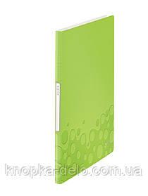 """Папка с файлами Leitz WOW  20 файлов, цвет """"зеленый металлик"""", арт.46310064"""