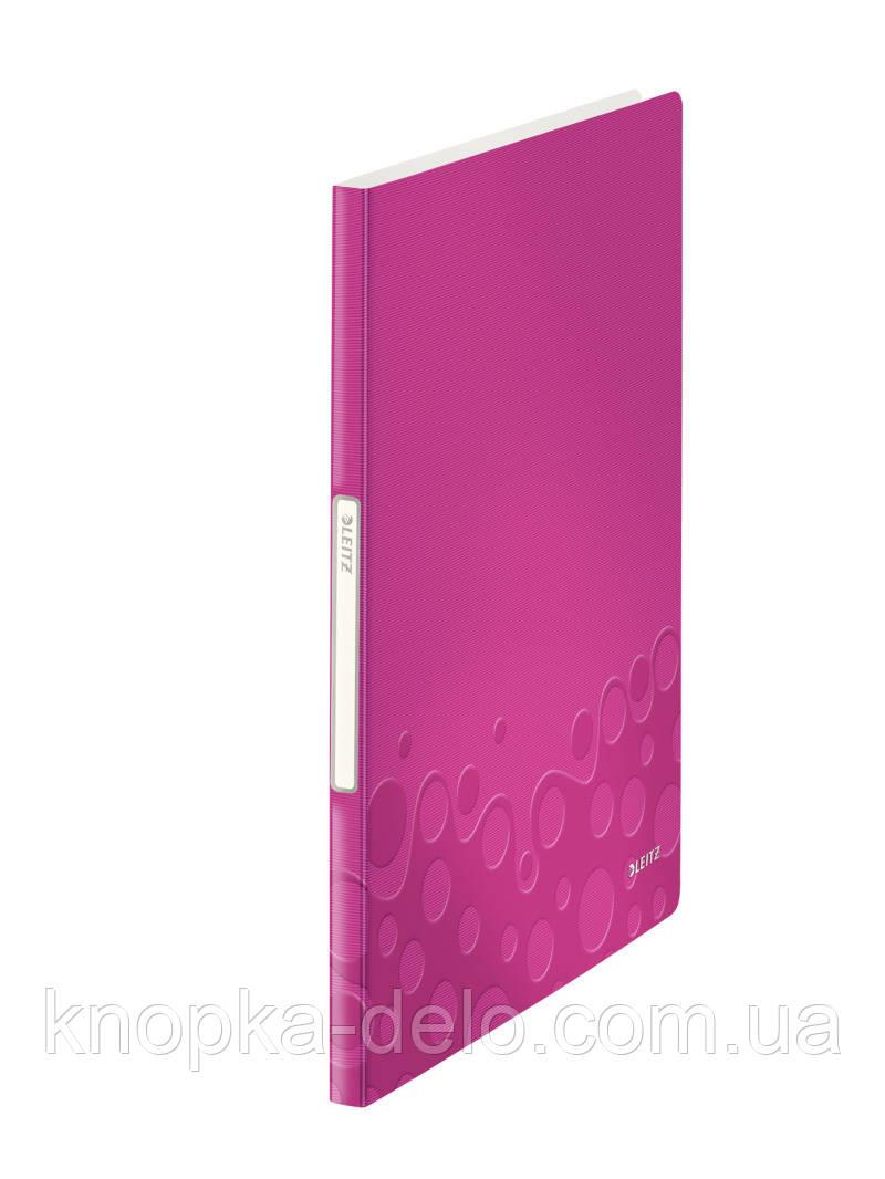 """Папка с файлами Leitz WOW  40 файлов, цвет """"розовый металлик"""", арт.46320023"""