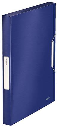 Папка-бокс на резинке Leitz Style, PP, 30мм, титановый синий, арт. 39560069, фото 2