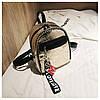 Женский рюкзак золотистый Love, фото 5