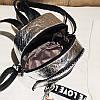 Женский рюкзак золотистый Love, фото 8