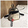 Женский рюкзак золотистый Love, фото 10