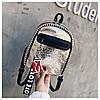 Женский рюкзак золотистый Love, фото 9