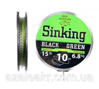 Поводковый матеріал Black Green 30 LB 13,6 kg (10m) Проф Монтаж