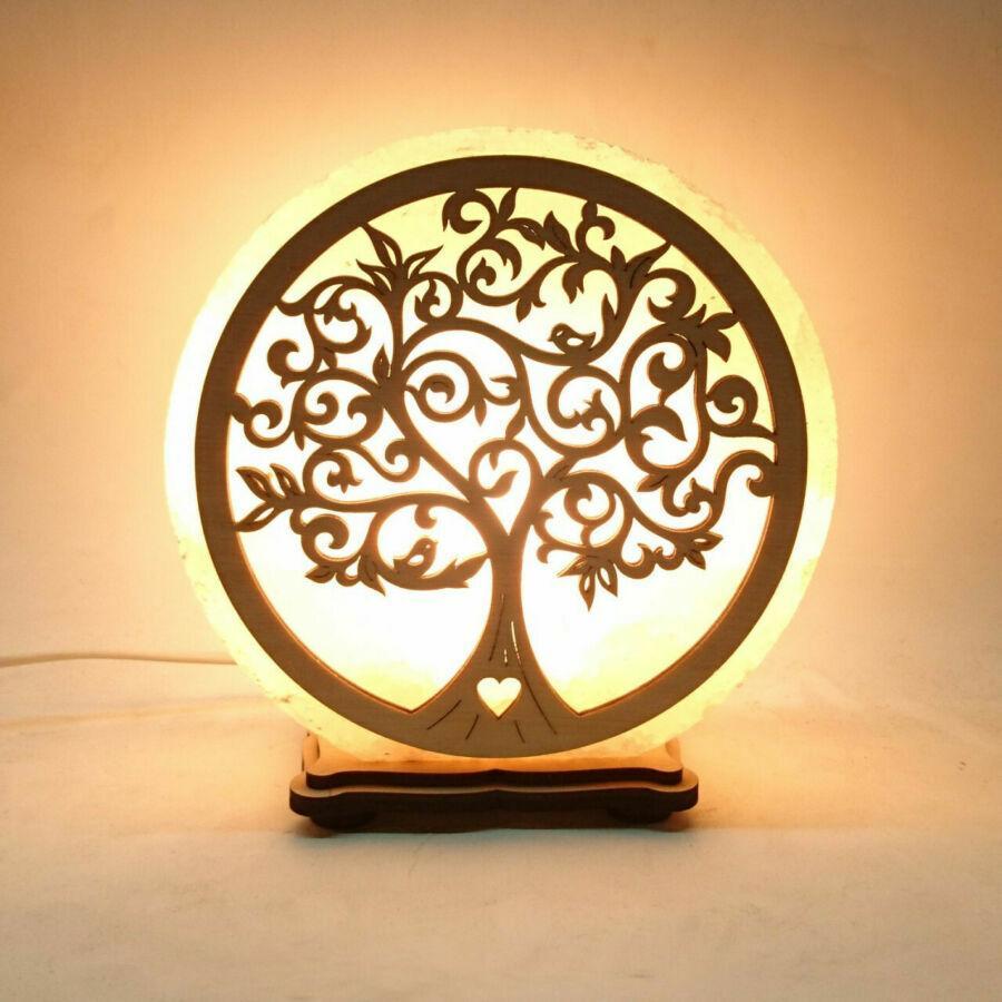Соляной светильник круглый Дерево 3