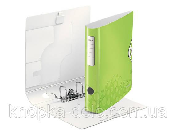 Папка-регистратор Leitz Active WOW 180°,  65мм, зеленая, арт. 11070064, фото 2