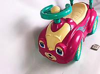 Каталка-Толокар для детей. Машинка- Автомобиль. Розовая.