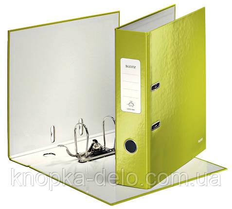 Папка-регистратор Leitz WOW с механизмом 180°, А4 80 мм, зеленый металлик, арт. 10050064, фото 2