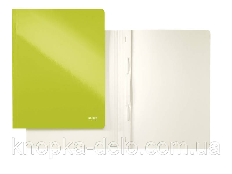 Скоросшиватель Leitz WOW, 250листов, А4, цвет зеленый металлик, арт.30010064