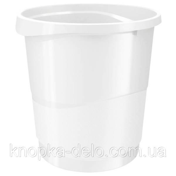 Корзина для бумаги Esselte Vivida 14 л пластиковая, белая