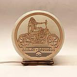 Соляной светильник круглый Harley Davidson, фото 2