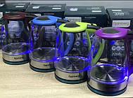 Электрический стеклянный чайник с рисунком Rainberg905