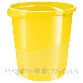 Корзина для бумаги Esselte Vivida 14 л пластиковая, желтая