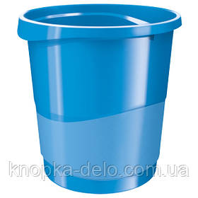 Корзина для бумаги Esselte Vivida 14 л пластиковая, синяя