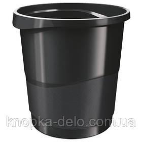 Корзина для бумаги Esselte Vivida 14 л пластиковая, черная