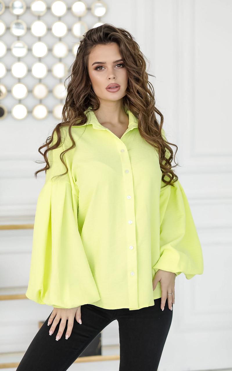 Блузка желтая, на пуговицах