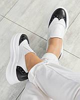 Стильные кожаные слипоны женские туфли