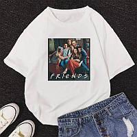 Стильная женская футболка белая Friends / Друзья