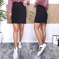 Черная джинсовая юбка New jeans 12-3695