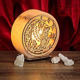 Соляной светильник круглый Ангел+луна, фото 2