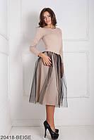 Жіноче плаття Подіум Lashes 20418-BEIGE XS Бежевий