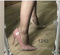 Туфлі жіночі класичні пудра,темна,лакові, фото 1