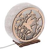 Соляной светильник круглый Колибри, фото 4