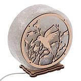Соляной светильник круглый Колибри, фото 5