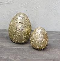 Яйцо ажурное керамическое большое-золотое, фото 1