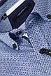 Рубашка мужская TOMI голубая с синим узором, фото 2
