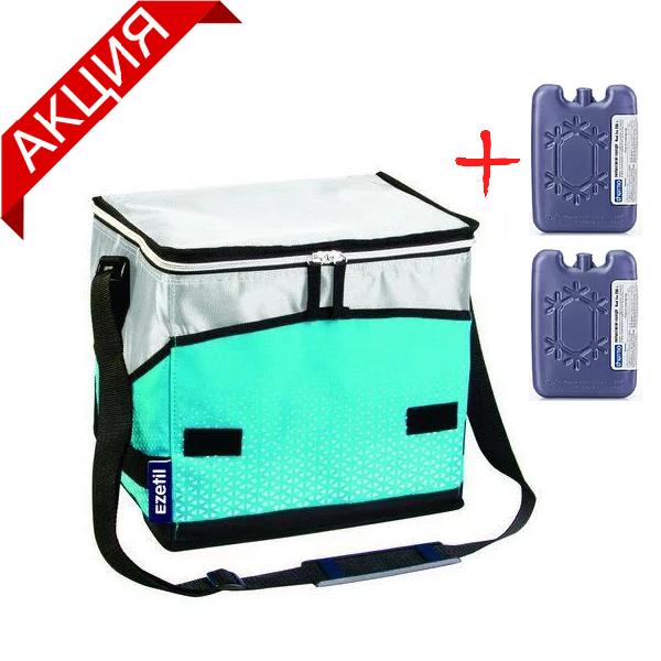 Сумка-холодильник 16 л Ezetil EZ КС Extreme, голубая (термосумка, изотермическая сумка)