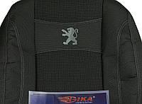 Чехлы на сиденья, авточехлы PEUGEOT PARTNER I 2002-2008- задняя спинка закрытый тыл и сид. 2/3 1/3; 5 подголовник.  Nika