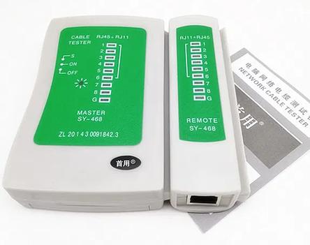 Кабельный тестер витой пары RJ-45 и RJ-11 для прозвонка сетевой tester, фото 2
