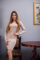 Жіноче плаття Подіум Deluxe 17266-BEIGE S Бежевий