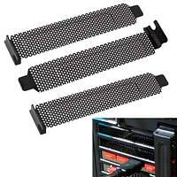 3x Заглушка вентилируемая для PCI слота корпуса, планка, пылевой фильтр
