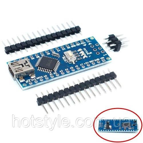 Плата Arduino Nano V3.0 AVR ATmega328 P-20AU CH340