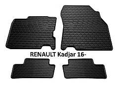 Коврики в салон резиновые Stingray RENAULT Kadjar 2016