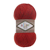 Пряжа Alize Cotton Gold Tweed 243 красный