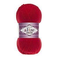 Пряжа Alize Cotton Gold 56 красный